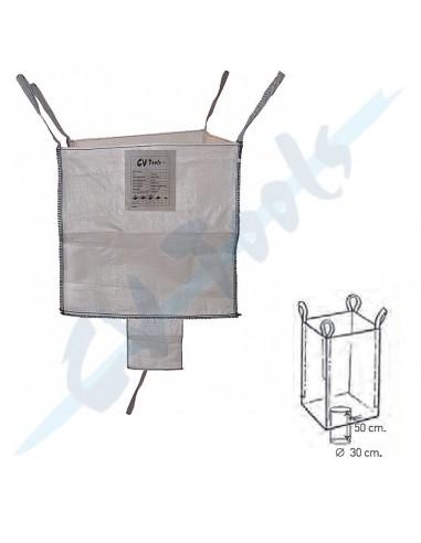 Saco Big Bag 850x850x900 con válvula...