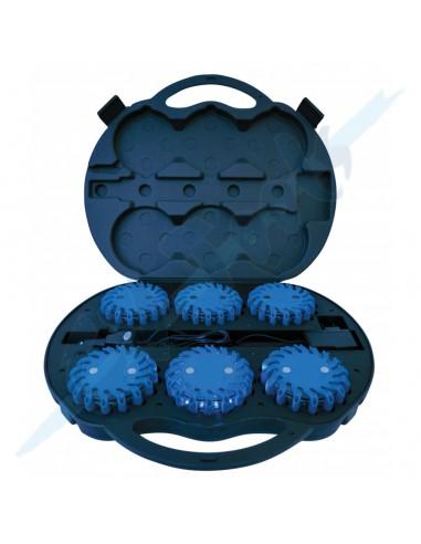 Maletín 6 uds baliza Azul led...