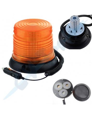 Rotativo LED 12v base magnética +...