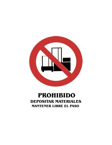 Cartel PVC 40x30 Prohibido depositar...