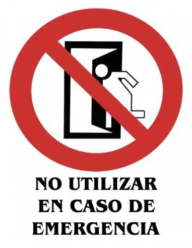 Cartel PVC 40x30 No utilizar en caso...