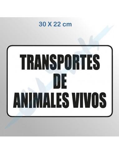 Señal transporte animales vivos...