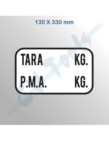 Señal adhesiva TARA P.M.A. 130 x 330 mm