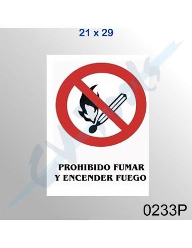 Cartel PVC 21x29 Prohibido fumar y...