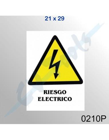 Cartel PVC 21x29 Riesgo eléctrico