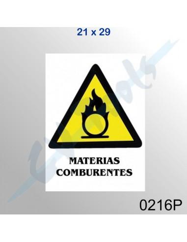 Cartel PVC 21x29 Materias comburentes
