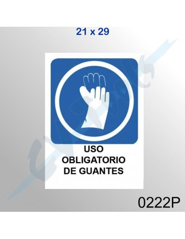 Cartel PVC 21x29 Uso obligatorio de...