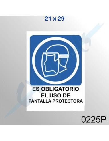 Cartel 21x29 Es obligatorio el uso de...