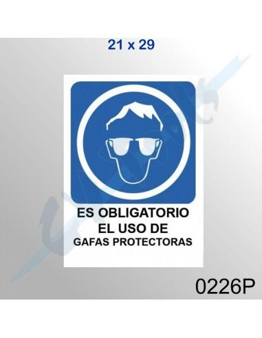 Cartel PVC 21x29 Es obligatorio el...