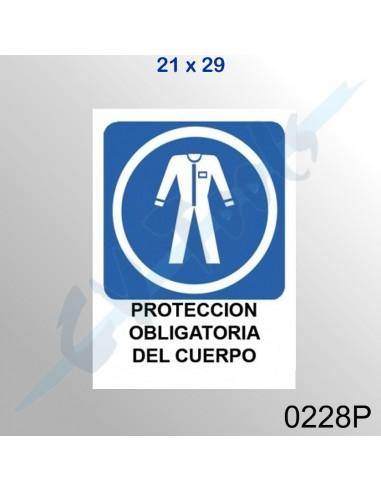 Cartel PVC 21x29 Protección...