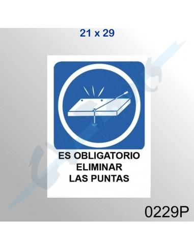Cartel PVC 21x29 Es obligatorio...