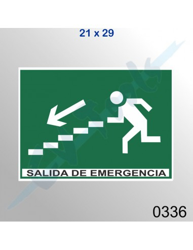 Cartel PVC 21x29 Salida de emergencia...