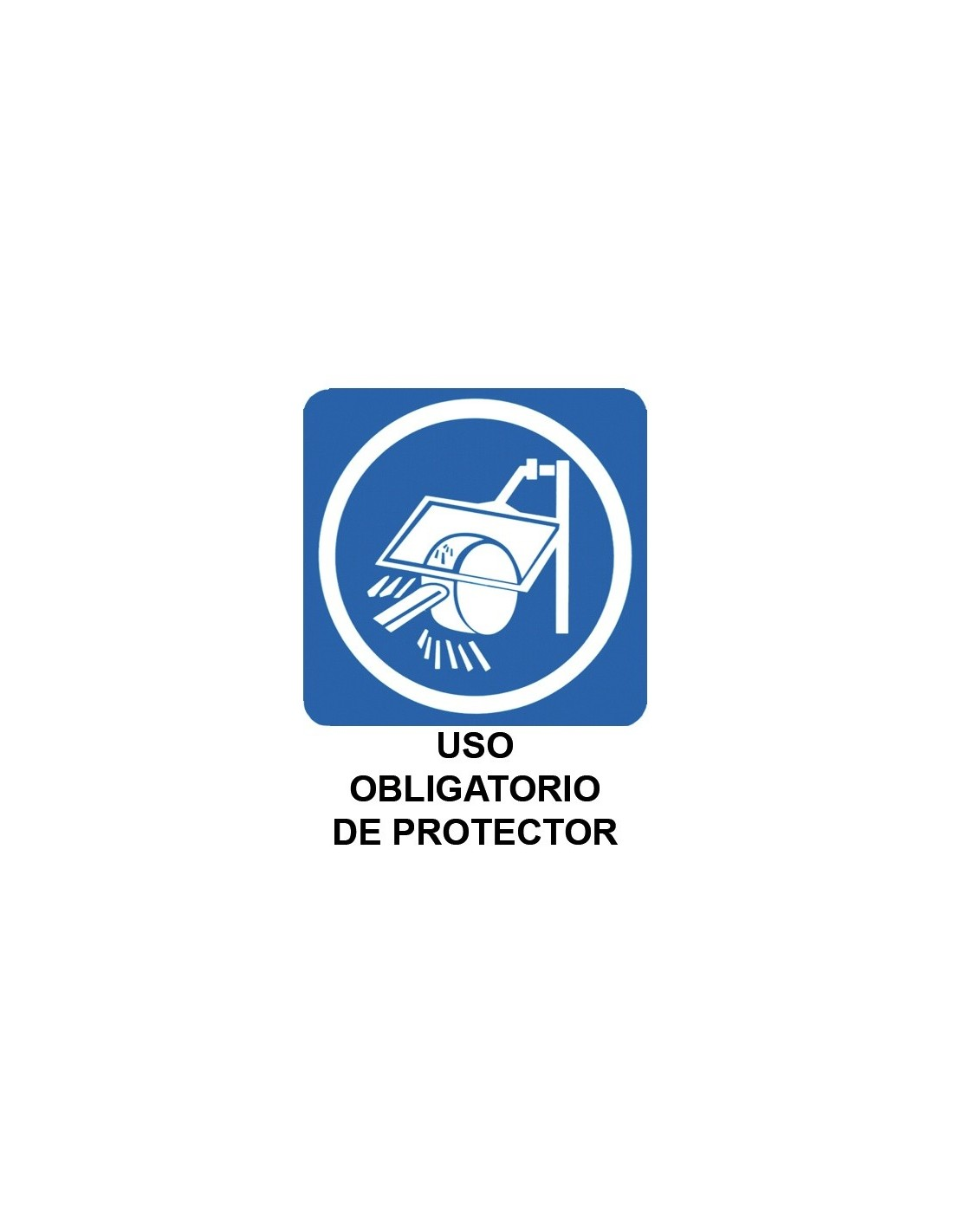 Cartel PVC 40x30 Uso obligatorio de protector auditivo