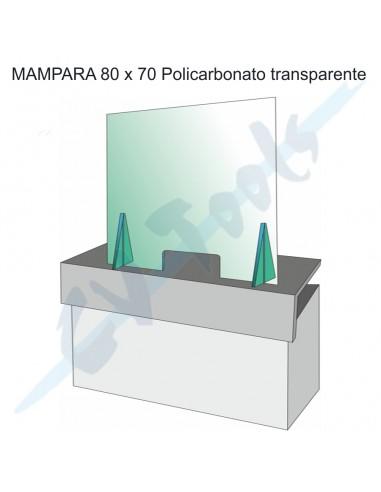 Mampara 80x70 policarbonato...