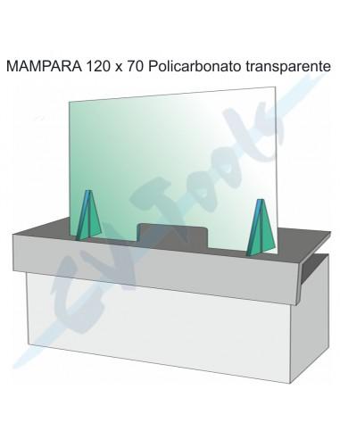 Mampara 120x70 policarbonato...