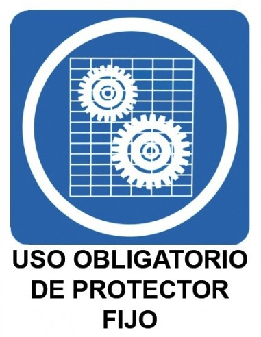 Cartel PVC 40x30 Uso obligatorio de...