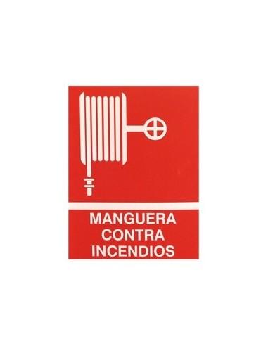 Cartel PVC 40x30 Manguera contra...